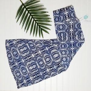 NWT Loveappella Deanne Printed Maxi Skirt L